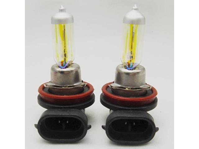 H11 12V 55W Golden Yellow Fog Light Bulbs 3000K 2 Pcs Halogen Xenon