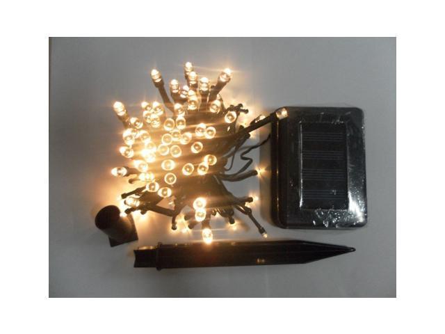100pcs LEDs Solar led fairy Light solar string light 12M garden decoration light high brightness warm white color