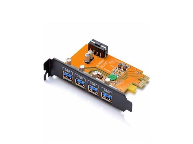 Desktop 4 Port USB3.0 PCI-Express control adapter card with PCI Bracket for Mac/Windows