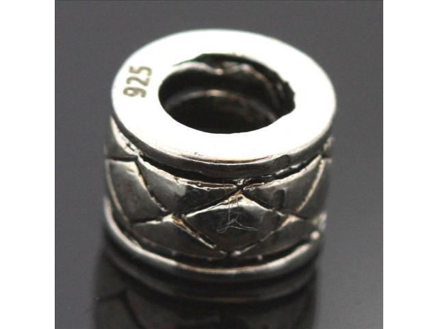 Crystal Zircon Rift 925 Sterling Silver European Charm Bead for Pandora Bracelet Necklace Chain