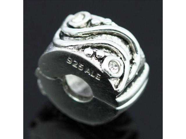 Wheel Crystal Enamel European Charm 925 Sterling Silver Bead fit Pandora Bracelet Necklace Chain