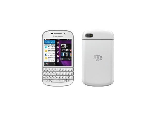 Blackberry Q10 White 16GB Factory Unlocked, International Version - 4G / LTE 3, 7, 8, 20 (1800 / 2600 / 900 / 800 MHz)