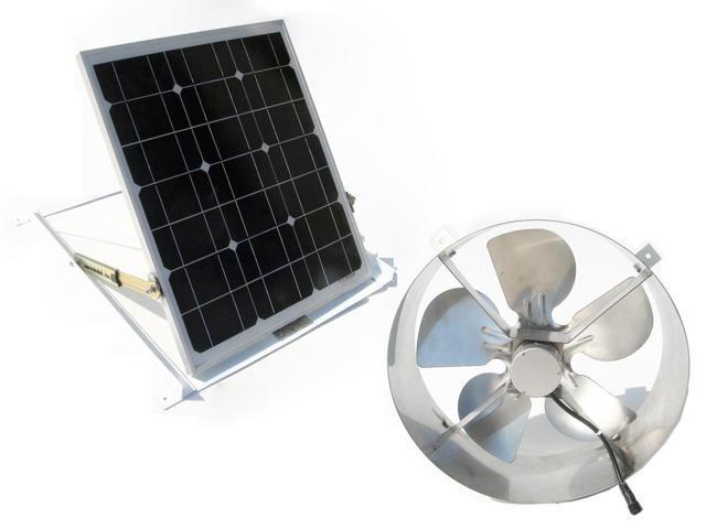 usa stock solar powered attic vent gable roof ventilator fan ventilation 29w mono panel for. Black Bedroom Furniture Sets. Home Design Ideas