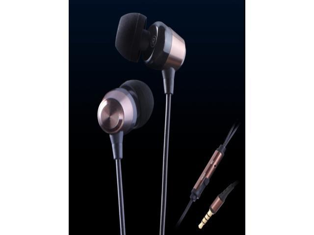 KingTime Coffee 3.5mm plug in-ear stereo PU metal earphones for iphone, ipod, ipad,samsung,headphones with microphone for ...