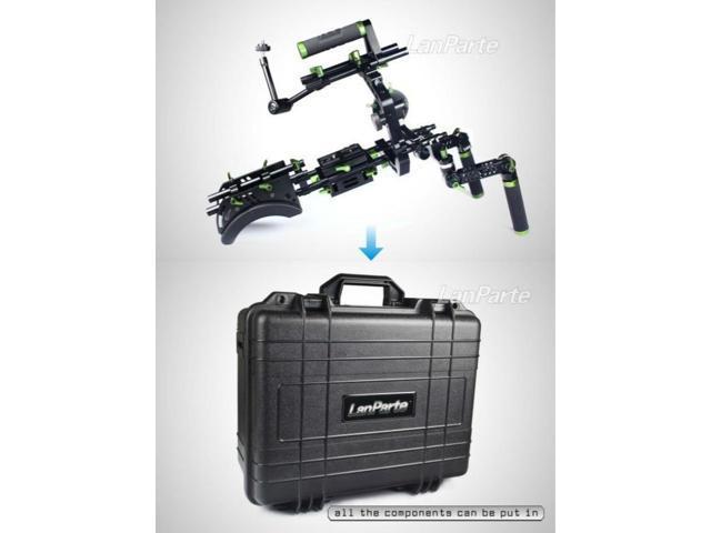 lanparte Video Dlsr Rig Camera Shoulder Support SCR-01+ Suit Case & Follow Focus