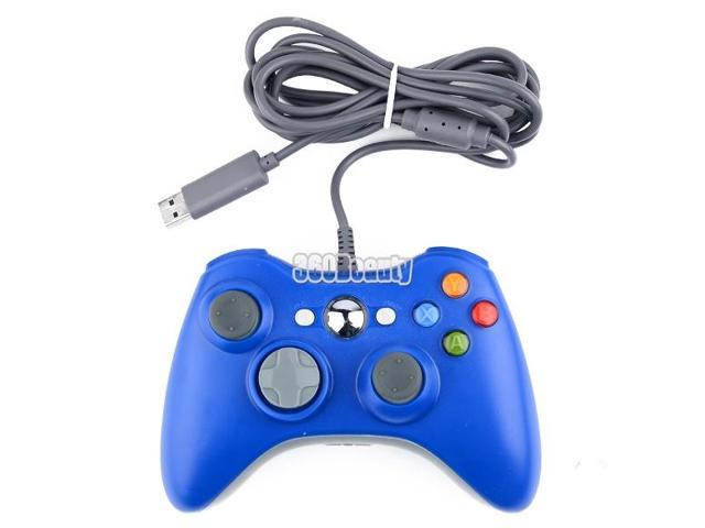 USB Wired Game Pad Joypad Controller For Microsoft Xbox 360 PC Windows NEW Blue