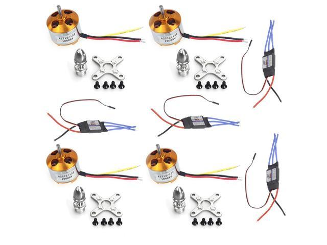 F02015-A 4Sets/lot A2212 1000KV Brushless Motor + 30A Speed Controller ESC For DIY 4 6 Axis RC Quadcopter Multirotor Aircraft