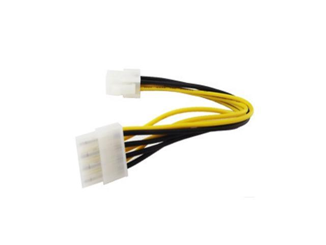 4 Pin Male to 8 Pin CPU Power Supply Adapter Converter ATX Cable 12V