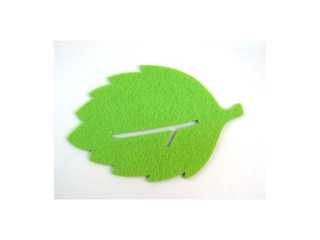 Creative Green Leaf Shape Coffee Tea Bar Cup Mat Pad Cup Coaster Cushion Decoration Protector