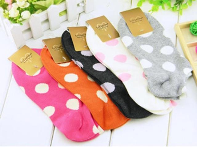 Dot Cotton Socks Slipper Casual Boat sock For Lady Girl Kids