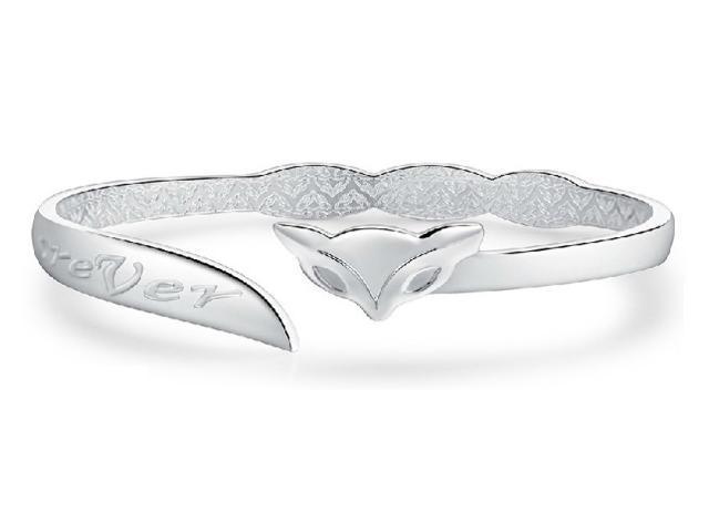 1 Pcs Silver Plating Color Fox Pattern Vintage Bracelet Bangle for Woman Female