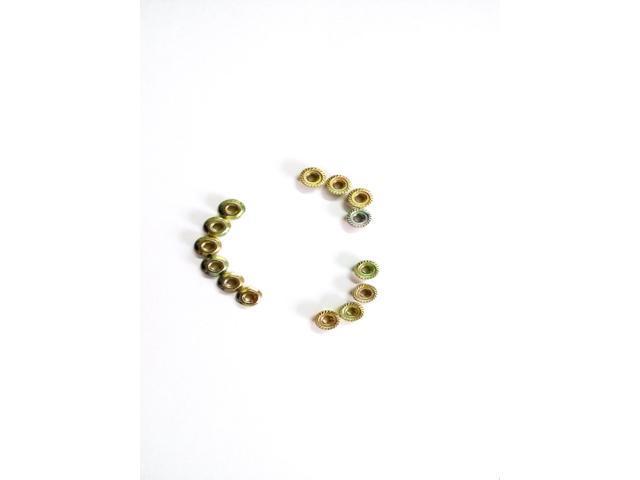 100pcs M3 Flange Nut Hexagon Skid Nut