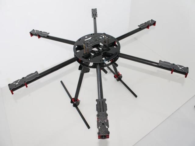 3K Carbon Fiber 700MM Folding Rack Frame Kit 6-Axis X700 For RC Hexacopter Quadcopter FPV