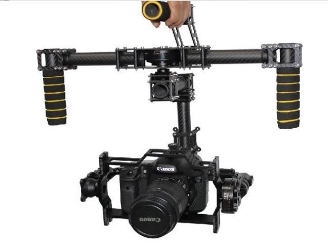 DYS Eagle Eye Carbon Fiber 3 Axis Handle Stable Stabilization Brushless Gimbal & Motor (No Controller) for Canon 5D Mark ...