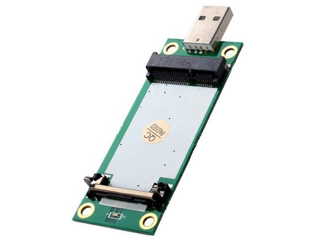 Generic Mini PCI-E Wireless WWAN To USB Adapter Card With SIM Card Slot Module Testing