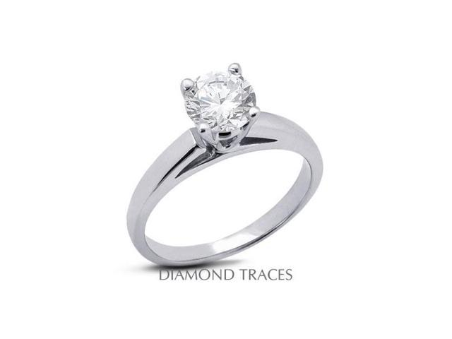 1.44 Carat H-VS2 Excellent Princess Natural Diamond Platinum Cathedral Solitaire Ring