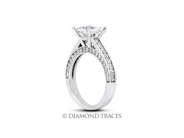 5.96 Carat I-VS1 Ideal Radiant Natural Diamond Platinum Cathedral Engagement Ring
