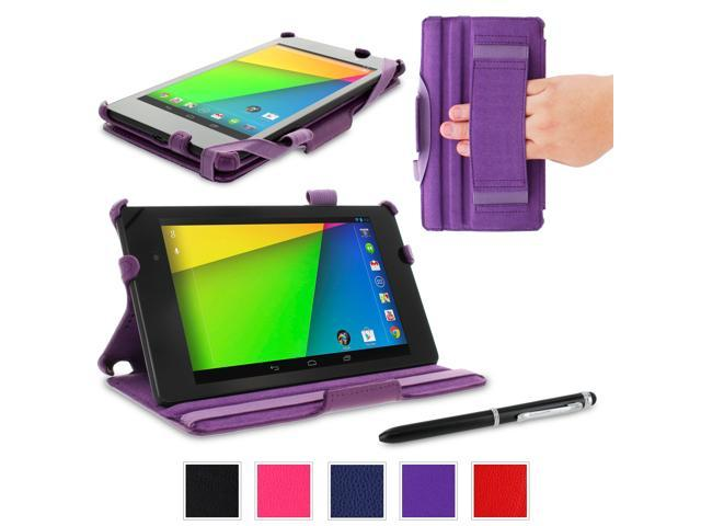 rooCASE Google Nexus 7 2013 FHD Case - (2nd Gen 2013 Model) Slim Fit Multi-angle Stand Cover - PURPLE (With Auto Wake / Sleep ...
