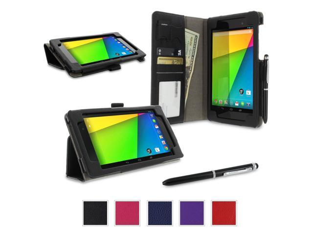 rooCASE Google Nexus 7 2013 FHD Case - (2nd Gen 2013 Model) Dual-Station Stand Cover - BLACK (With Auto Wake / Sleep Cover)