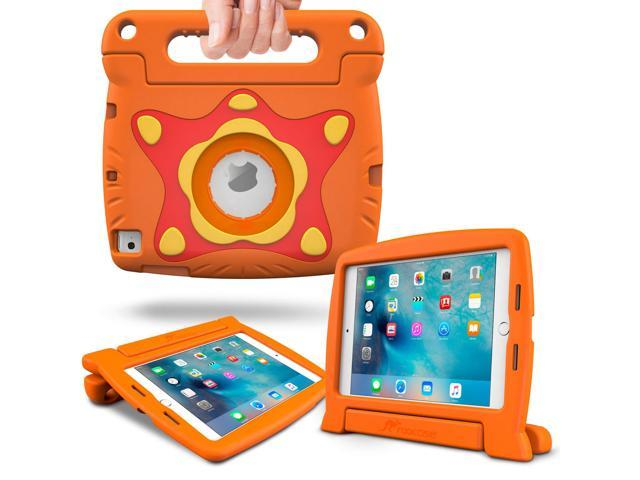 iPad Air 2 Case, rooCASE Starglow Glow in the Dark iPad Air 2 Case for Kids Kid Friendly Protective Cover with Stand for Apple iPad Air 2, Orange (will NOT fit New iPad 2017)