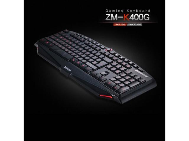 ZALMAN Gaming Keyboard ZM-K400G /7 HotKeys/5 Macro Keys/USB Type (EN/KR Version)