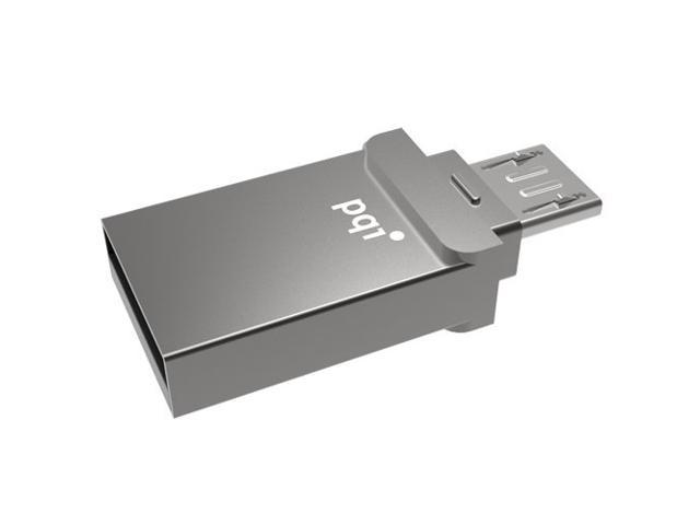 32GB PQI Connect 201 USB and micro USB OTG Storage Drive for Android devices