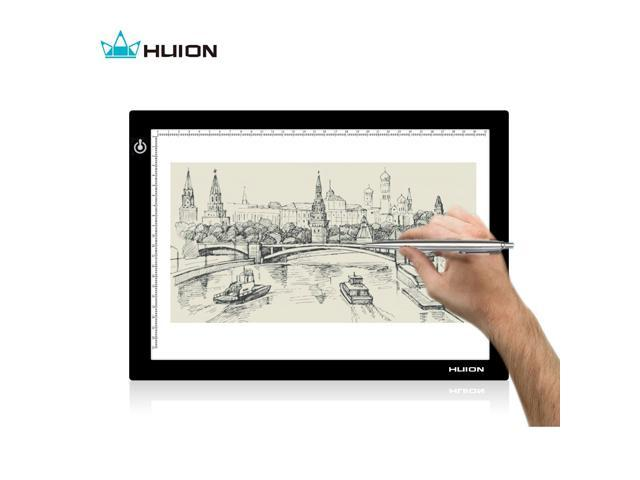 Huion 17.7 Inches Super Slim Dimmable Illumination Tracing Light Box Light Pad Drawing Board - L4S USB Portable