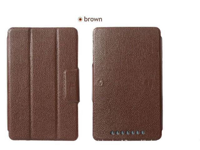 Hard Case PU Folio Leather Stand Magnetic Cover For Google Nexus 7 1st Brown