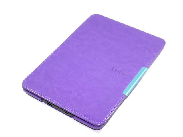 Slim Magnetic Flip Leather Case Cover Wake/Sleep For Amazon Kindle Paperwhite Purple