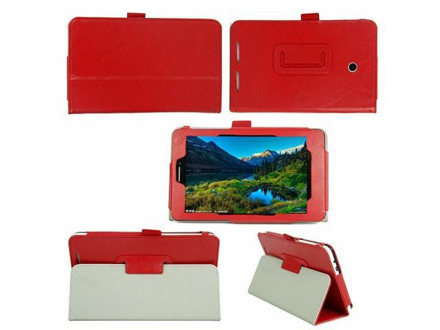 High quality PU leather case Crazy horse grain For Asus MeMO Pad HD 7 ME175KG Red