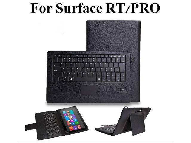 Removable Bluetooth Keyboard Leather Case Touchpad for Microsoft Surface RT Pro
