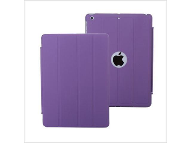 4 Folded Ultra Slim Flip PU Leather case Cover for Apple iPad air iPad 5 Purple