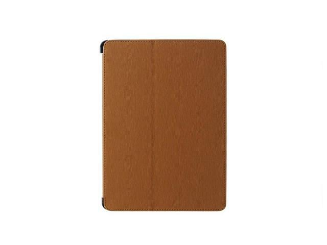 High Quality Fashion Multi-function Hand Strap Leather Stand Hard Case Cover + Fim & Stylus For iPad Air 5th Brown