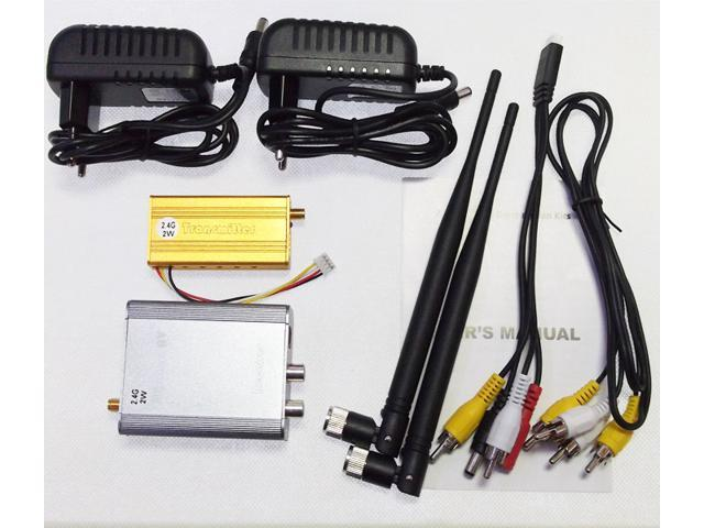 2W 2.4G Wireless Video Audio AV Transmitter Receiver kit for CCTV camera