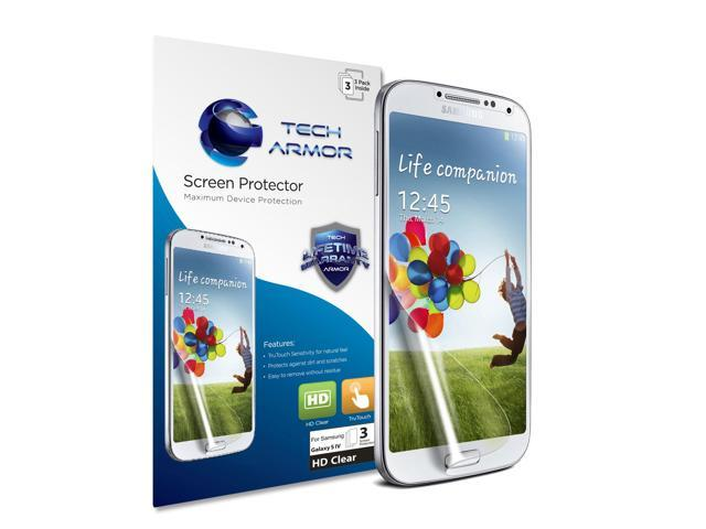 Tech Armor Premium High Definition Clear Screen Protector For Samsung Galaxy S4 SIV (3-Pack)