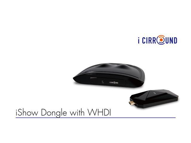 iCIRROUND WHD1002 iShow Dongle WHDI Uncompressed Wireless Extender Multimedia Transmission for HDMI-Ready Devices