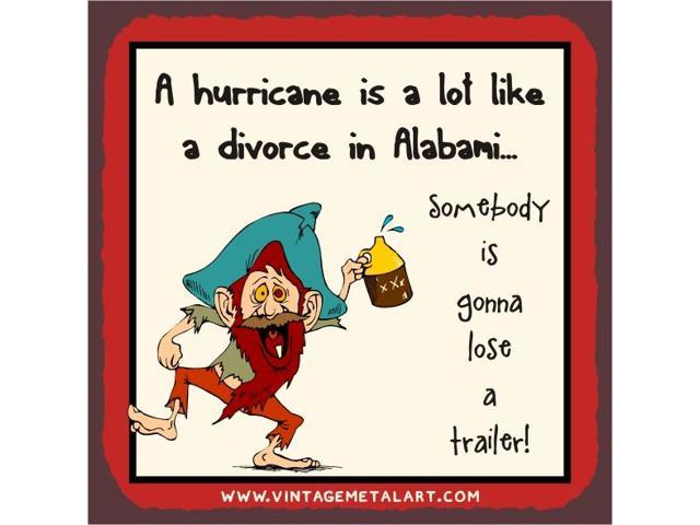 Hurricane A Lot Like Alabami Mini Vintage Tin Sign