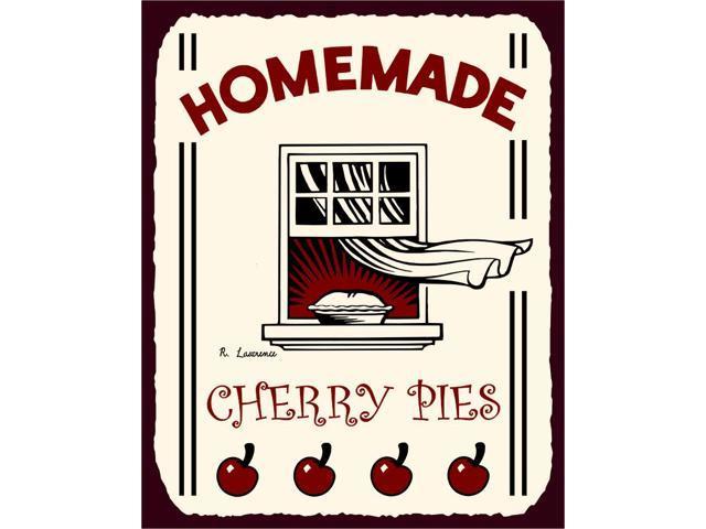 Homemade Cherry Pies Vintage Metal Art Retro Tin Sign - Newegg.com