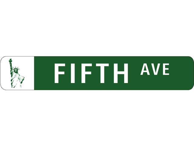 Fifth Ave Statue Of Liberty Novelty Metal Street Sign