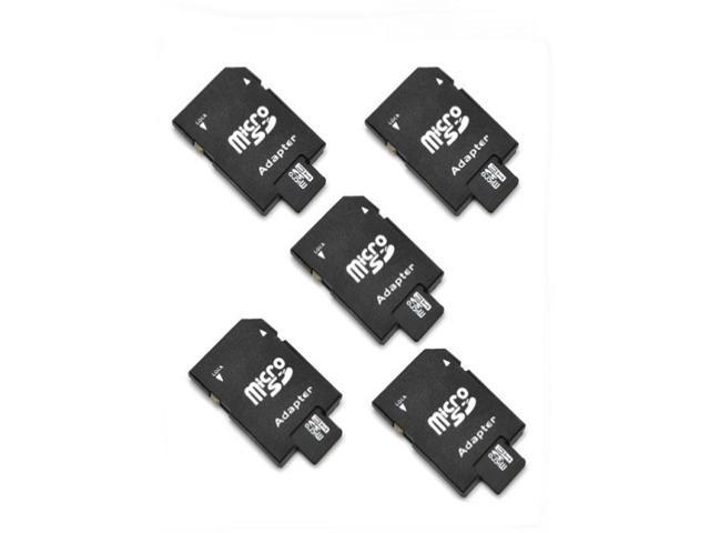 5Pcs 4G 4GB T-Flash TF Micro SD Memory Card + SD Card Adapter+Case camera phone