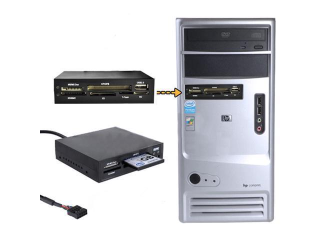 "3.5"" All In 1 Internal Card Reader USB 2.0 9 Pin Flash Memory MS CF TF"
