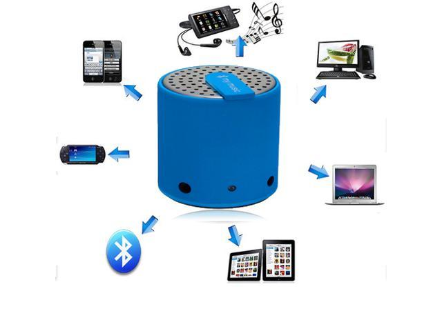 Portable Mini Wireless Bluetooth Speakers for iPhone 4S 5 Galaxy S4 Mp3 PC iPod Blue