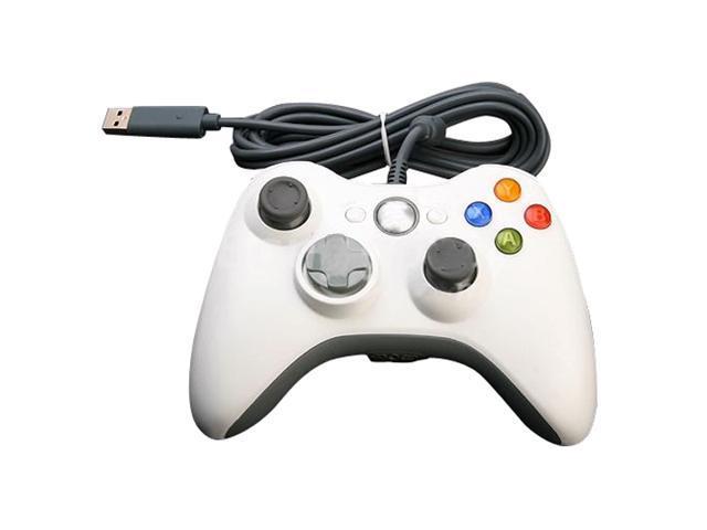 Wired USB Game Pad Gamepad Joypad Controller For Microsoft Xbox 360 & Slim PC Windows Win7 White