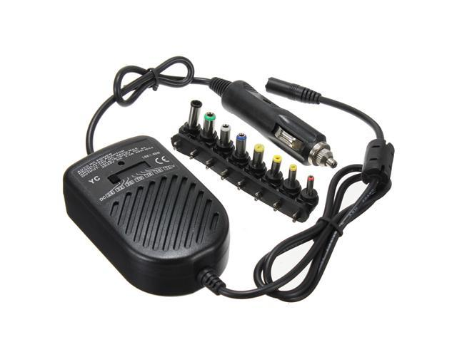 Universal DC 80W Supply Car Auto Charger Power Adapter For Laptop/Notebook Black