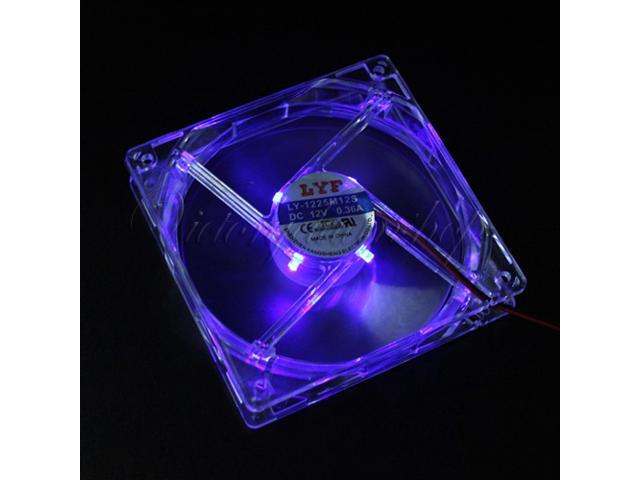 4 Pins 120mm X 25mm Cooling CPU Heatsink Case Fan for PC Computer Blue LED Light