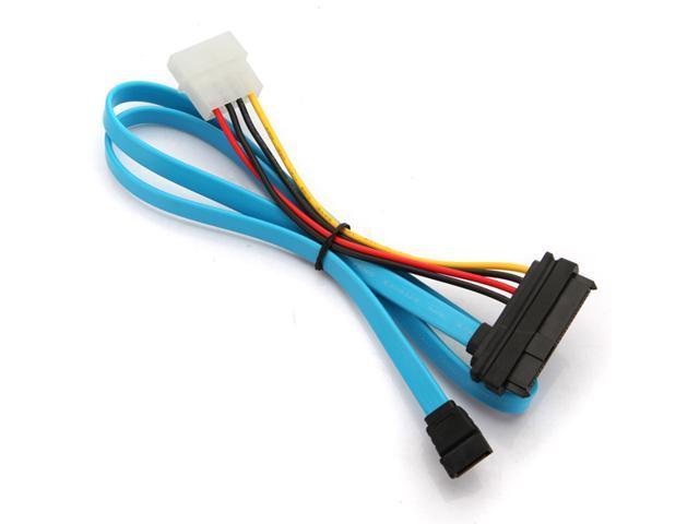 SAS 29 Pin & 4 Pin to 7 Pin SATA Serial ATA Power Cable Male Connector Adapter