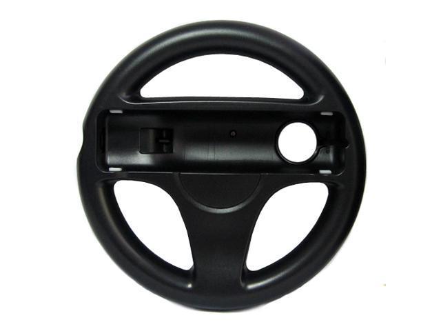 Steer Steering Wheel For Nintendo Wii Mario Kart Racing Games Remote Controller Black