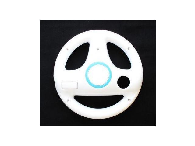 Steer Steering Wheel For Nintendo Wii Mario Kart Racing Games Remote Controller White