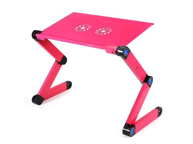 360° Adjustable Foldable Laptop Notebook Desk Table Stand Portable Bed Tray (Red)