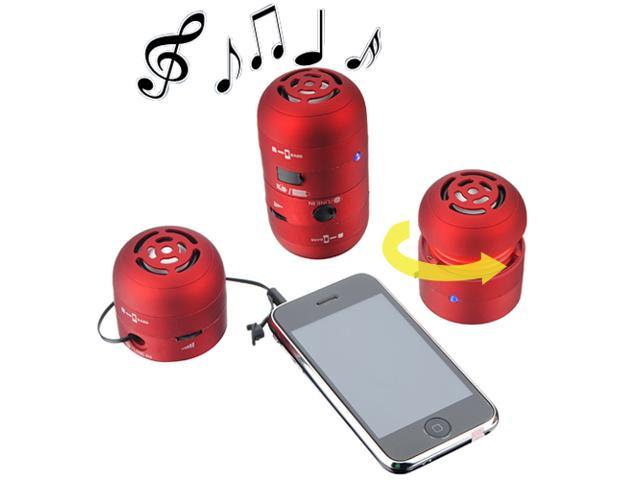 Mini LED Portable Multimedia USB Speaker for Mp3 cell phone iPod iPhone ipad Samsung Sony Laptop PC/ Red
